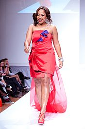 Divine Brown at The Heart Truth Celebrity fashion show.