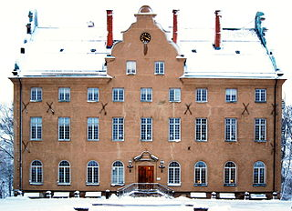 Djursholm Castle building in Danderyd Municipality, Stockholm County, Sweden