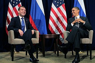 Russian reset - Russian President Medvedev and U.S. President Obama in Honolulu, Hawaii, November 2011