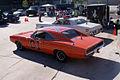 Dodge Charger 1969 RT General Lee Dodge Monaco 1977 Roscoe P Coltrane Dukes AboveLSideRears TBS 09Feb2014 (14606439193).jpg