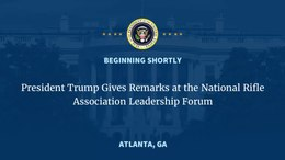 Mynd:Donald Trump remarks at National Rifle Association Leadership Forum..webm