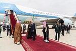 Donald and Melania Trump are welcomed by King Salman bin Abdulaziz Al Saud, May 2017.jpg