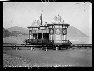 Foto de Donostia - San Sebastian hacia 1908.