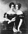 Doppelbildnis der Amalie Auguste, Prinzessin von Anhalt, später Fürstin von Schwarzburg-Rudolstadt und Luise Friederike, Prinzessin zu Anhalt, später Landgräfin von Hessen.jpg