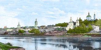 Dorogobuzh - Pre-1917 view of the Dnieper River in Dorogobuzh
