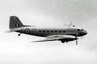 Armstrong Siddeley Mamba - The Armstrong Siddeley Mamba-powered Douglas C-47B Dakota testbed in 1954 showing the slim outline of the Mambas