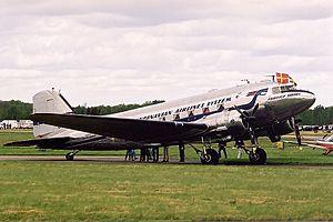 1947 Croydon Dakota accident - A C-47A similar to the accident aircraft