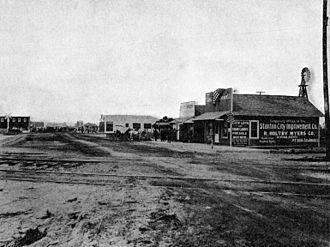 Stanton, California - Downtown Stanton, 1913