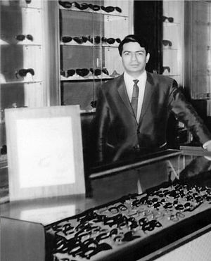 Hassan's Optician Co. - Hassan Saadat Yazdi at his first store in Sharq, Kuwait (1951)