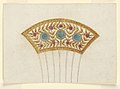 Drawing, Design for Cresting for a Comb, 1810–20 (CH 18549523).jpg
