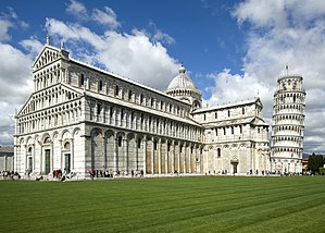 Piazza dei Miracoli - Pisa Cathedral with the Leaning Tower of Pisa