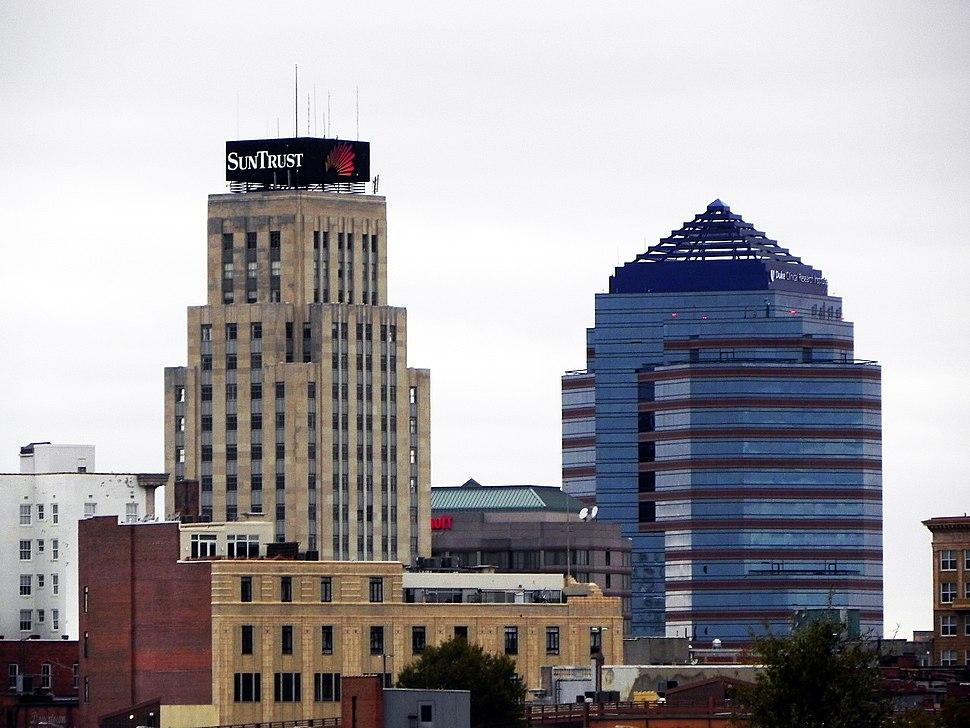 Durham NC downtown skyline