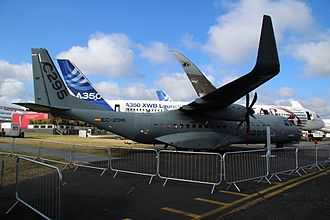 EADS CASA C-295 - C-295W prototype at the Farnborough Airshow in 2014
