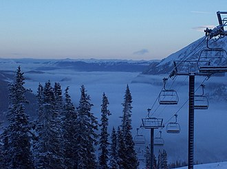 Copper Mountain (Colorado) - Early morning fog, top of the American Flyer lift, 2006