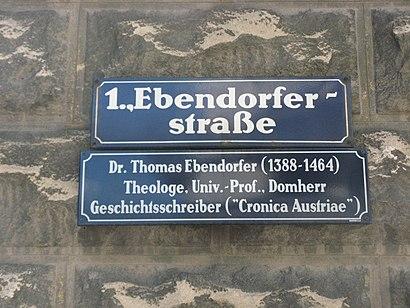 So kommt man zu der Ebendorferstraße mit den Öffentlichen - Mehr zum Ort Hier