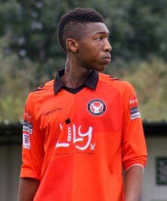 Ebou Adams - Adams playing for Walton Casuals in October 2014