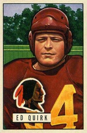Ed Quirk - Quirk on a 1951 Bowman football card