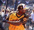 Eduardo Nunez takes batting practice on Gatorade All-Star Workout Day. (28062625703).jpg