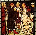 Edward Burne-Jones The marriage of Tristram and Isoude Les Blanches Mains.jpg