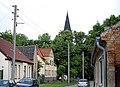 Egeln Nord, Dorfstrasse, Blick zur Kirche - panoramio.jpg