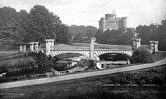 David Hamilton (architect) - Image: Eglinton Castle & Tournament Bridge 1884