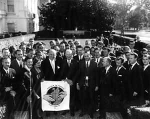 People to People Student Ambassador Program - President Dwight D. Eisenhower with the People to People committee in 1960.