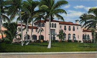 Addison Mizner - El Mirasol (the Edward T. Stotesbury mansion), Palm Beach, Florida (1919, demolished 1950s).