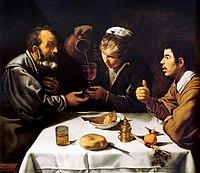 El almuerzo, by Diego Velázquez