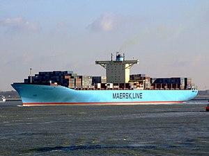 Eleonora Maersk p1 9321500, leaving Port of Rotterdam, Holland 25-Jan-2007.jpg