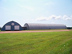 A Quonset hut in the community