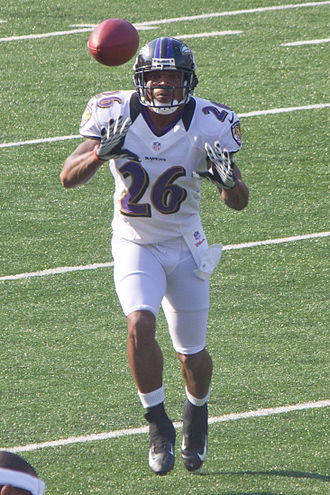 Emanuel Cook - Cook at Ravens M&T Bank Stadium practice in August 2012.