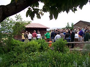 This Is the Place Heritage Park - Dedication ceremonies of the Emery County Cabin in June 2009