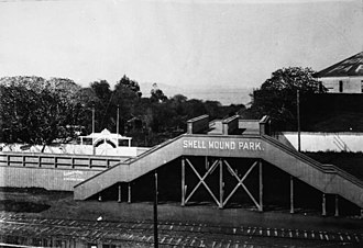 Emeryville Shellmound - Entrance to Shellmound Amusement Park from Southern Pacific rail stop