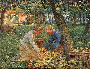 "Painting by Emile Claus – ""Orchard in Fla..."