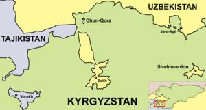 Batken Region - Map of Enclaves in Batken Region