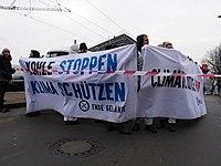 Ende Gelände blockade of the Invalidenstraße at the Sandkrugbrücke 05.jpg
