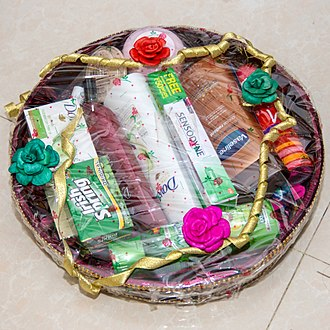 Engagement - Modern engagement gifts basket in Bangladesh.