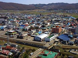 Engaru, Hokkaido - The town view from Gambōiwa