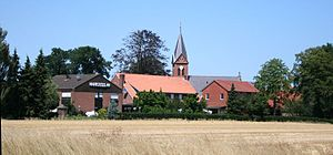 Engden - Engden's centre with Abt St. Antonius