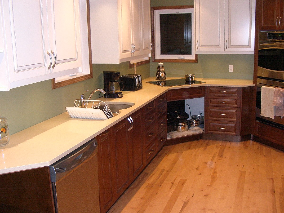 Polymer Indoor Kitchen Cabinets