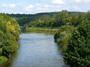 Enz - The Enz (foreground) empties into the Neckar
