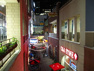 Uptown Charlotte - The EpiCentre is a popular shopping and nightlife destination in downtown.