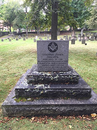 40th (the 2nd Somersetshire) Regiment of Foot - Erasmus James Philipps, Old Burying Ground (Halifax, Nova Scotia)
