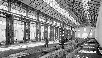 Islington Railway Workshops - A larger erecting shop was built in 1902 at Islington workshops. This building was where the South Australian Railways assembled locomotives and rolling stock.