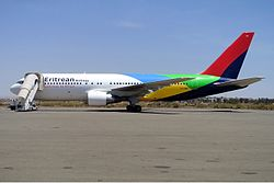 Eritrean Airlinesin Boeing 767-200ER