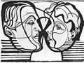 Ernst Ludwig Kirchner - Zwei sich anblickende Köpfe (Hembusse) 1930.jpg