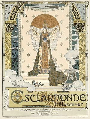 Esclarmonde - Original poster for the premiere