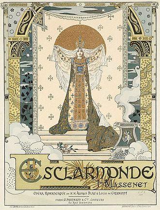 Esclarmonde - Original poster for the premiere
