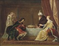 Esther, Ahasuerus and Haman (Pieter Fransz. de Grebber) - Nationalmuseum - 17451.tif