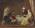 Esther, Ahasuerus and Haman (Pieter Fransz. de Grebber) - Nationalmuseum - 17451.tif